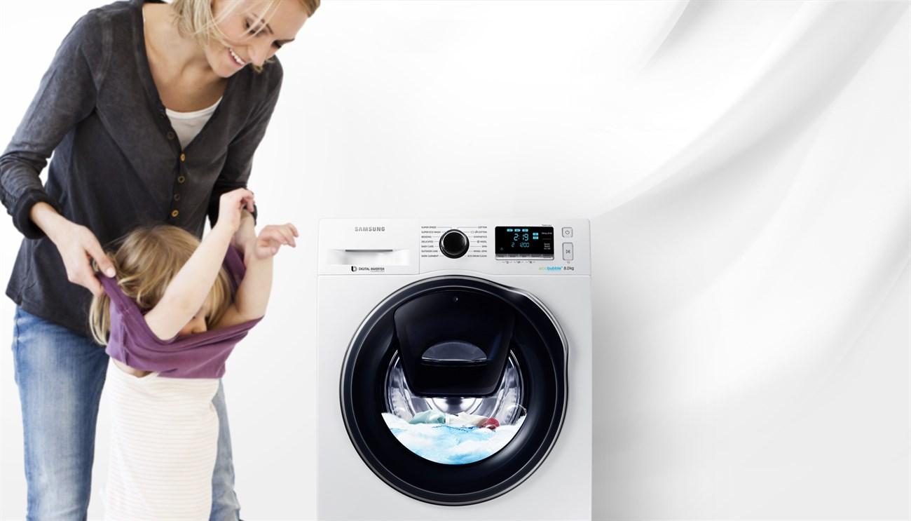 Samsung ra mắt máy giặt cho phép thêm quần áo khi đang chạy