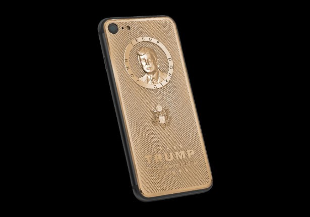 iPhone 7 mạ vàng in hình Donald Trump giá hơn 60 triệu