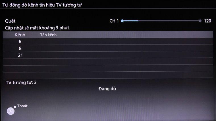 Cách dò kênh Smart tivi Panasonic