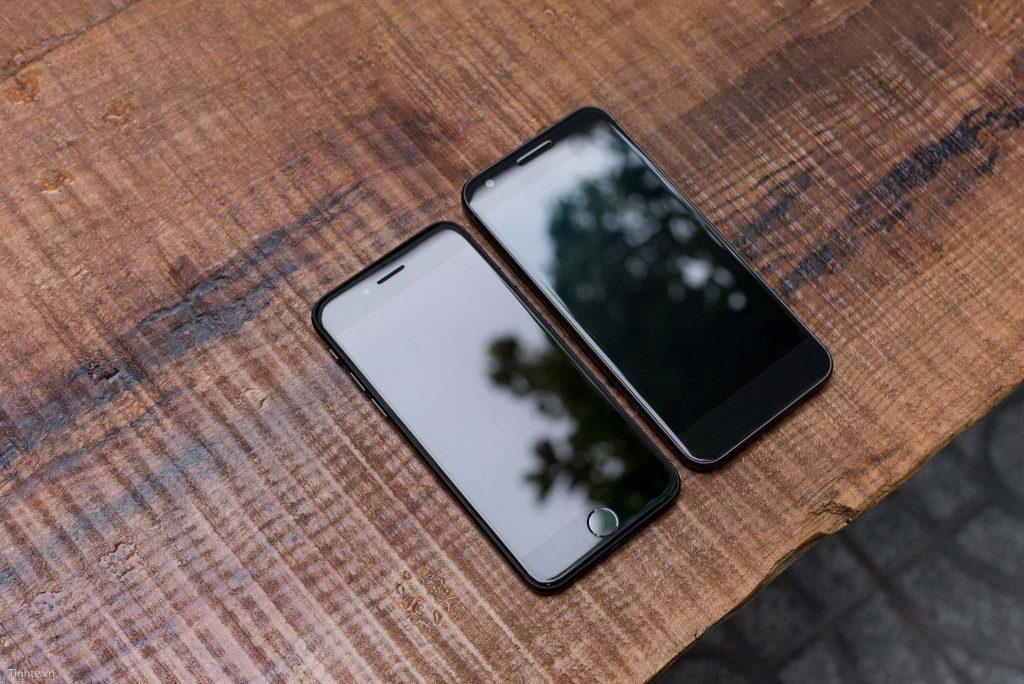 Hình ảnh so sánh Google Pixel với iPhone 7
