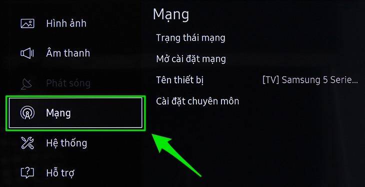 Cách kết nối mạng trên Smart tivi Samsung 2017